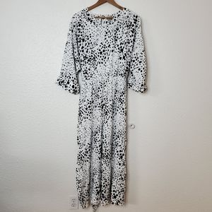Asos Dalmatian Print Cropped Jumpsuit Size 14